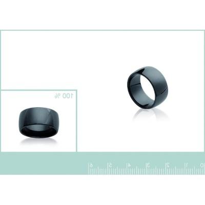 bague en céramique pour femme, anneau noir de 8,5 mm de large