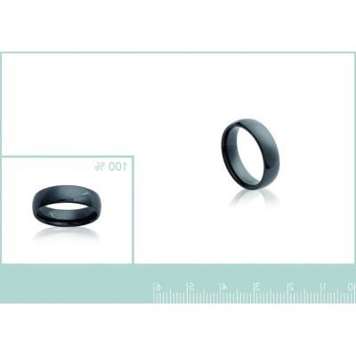 Bague anneau de céramique noire 5 mm, Syria