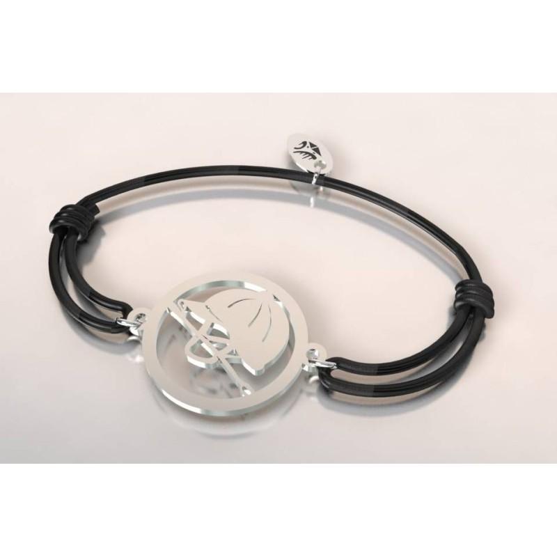 Bracelet équitation en argent pour femme - Bombe et cravache - Lyn&Or Bijoux
