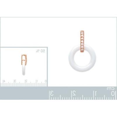 Pendentif anneau de céramique blanche, Tiéna