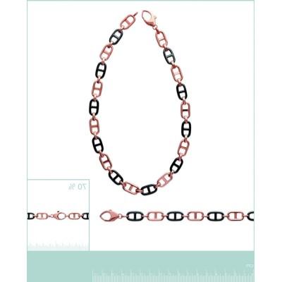 Bracelet femme tendance plaqué or rose, céramique, Chica