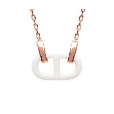 Collier pour femme en céramique en plaqué or rose, Marine