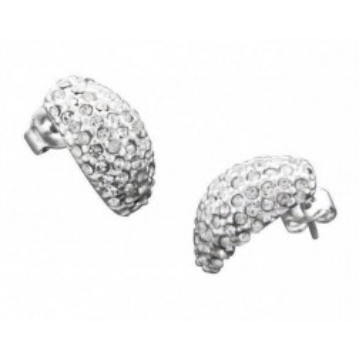 Boucles d'oreilles LZ, demi-lune Eclats de cristal de Swarovski