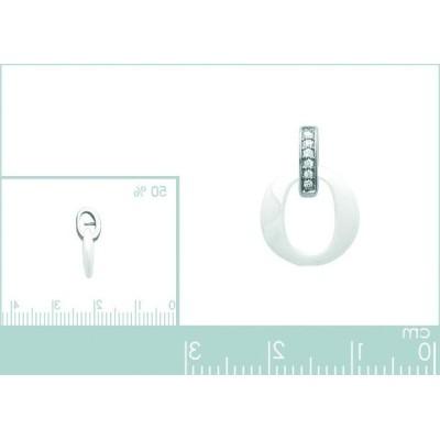Bracelet pour femme en céramique blanche, argent, zircon, Oméga