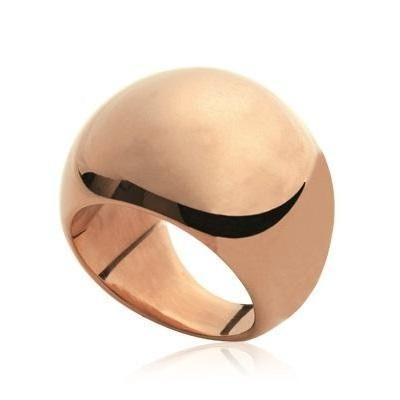 Grosse bague pour femme en acier rose - Gaudron - Lyn&Or Bijoux