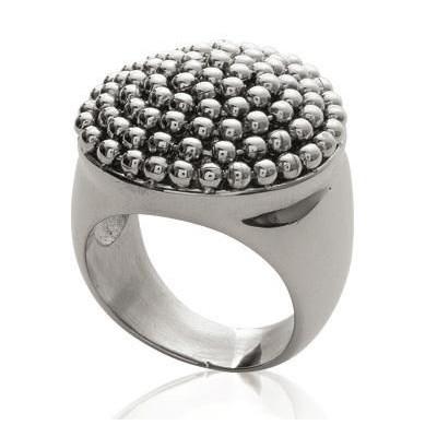 Bague tendance pour femme en perles d'acier, Karma