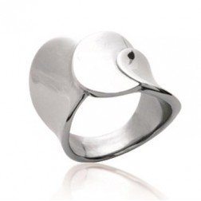 Bague pour femme en acier gris inoxydable - Kayana - Lyn&Or Bijoux