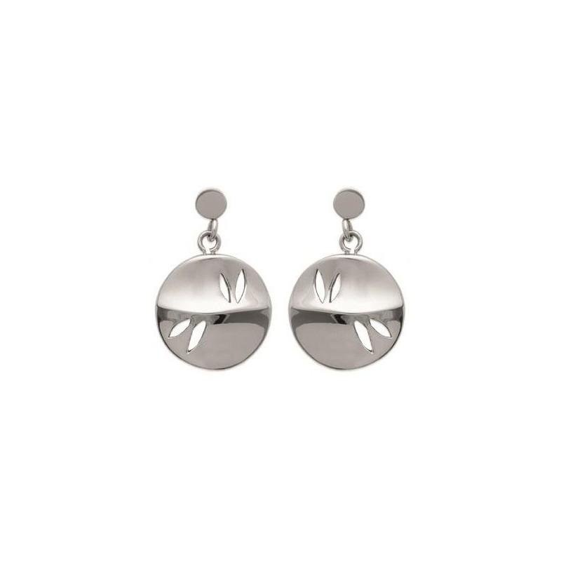 Boucles d'oreilles tendance pour femme en acier, Vertige