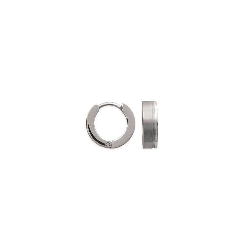 Boucles créoles pour femme en acier - Espéra - Lyn&Or Bijoux
