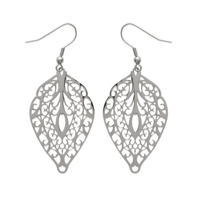 Boucles d'oreilles tendance pour femme en acier, Lagon