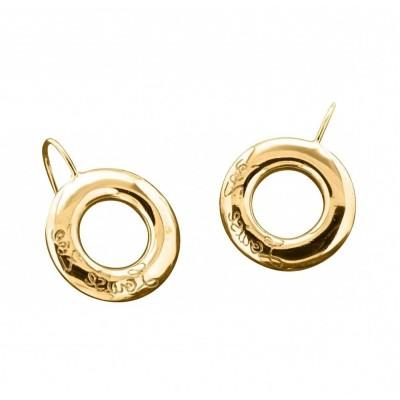 Boucles d'oreilles finition dorée pour femme - Cercle Griffé - Lyn&Or Bijoux