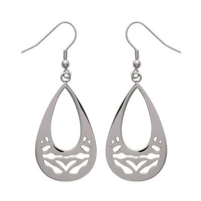 Boucles d'oreilles tendance en acier gris pour femme, Sima