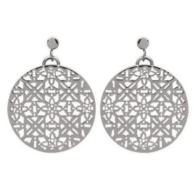 Boucles d'oreille pendantes pour femme, en acier - Jana - Lyn&Or Bijoux