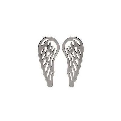 Boucles d'oreilles en forme d'ailes en acier, Iliana