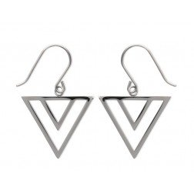 Boucles d'oreilles triangle en acier pour femme - Laila - Lyn&Or Bijoux