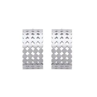 Demi-créoles pour femme en acier gris - Cocktail - Lyn&Or Bijoux