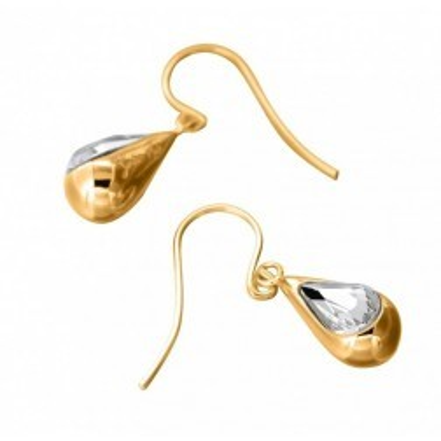 Boucles d'oreilles mode femme LZ - Gouttes plaqué ors, Cristal de Swarovski