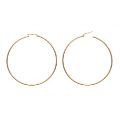 Créoles pour femme en acier doré, diamètre 70 mm - Paradise - Lyn&Or Bijoux