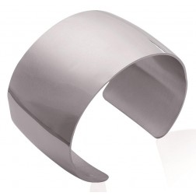 Bracelet manchette tendance en acier gris, Pally