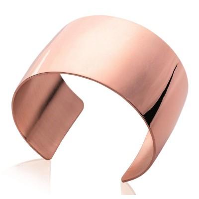 Bracelet manchette tendance en acier rose, Pally