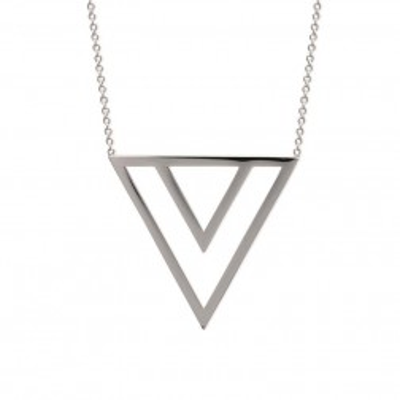 Collier tendance en acier, triangle pour femme - Pilya - Lyn&Or Bijoux