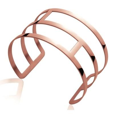 Bracelet manchette pour femme en acier rose, Eniy