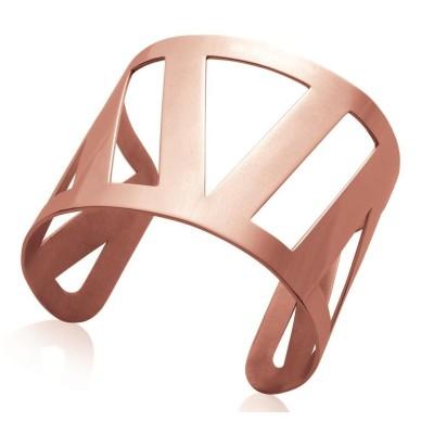 Bracelet manchette pour femme en acier rose, Guila