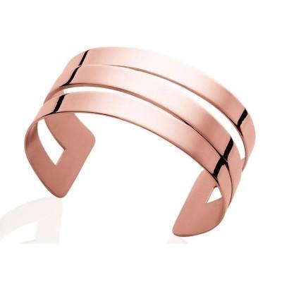 Bracelet manchette tendance en acier rose, Fiji
