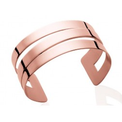 Bracelet manchette pour femme en acier rose, Fiji - Lyn&Or Bijoux