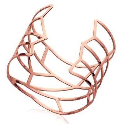 Bracelet manchette pour femme en acier rose, Infinissime