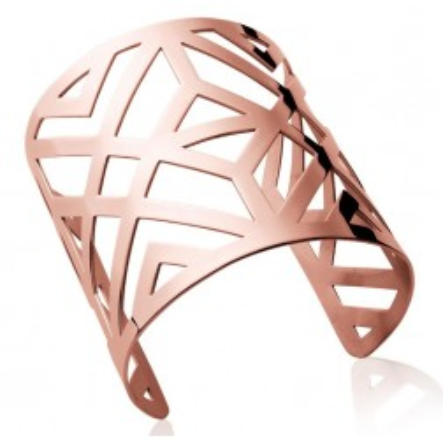 Bracelet manchette en acier rose pour femme - Tryna - Lyn&Or Bijoux