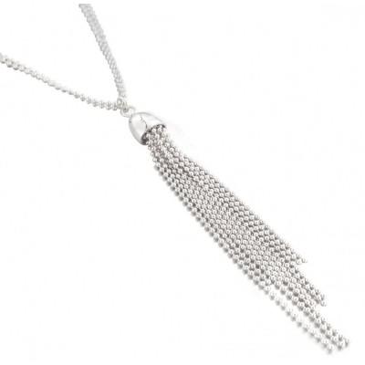 Collier sautoir en argent 75 cm pour femme - Pampilles - Lyn&Or Bijoux