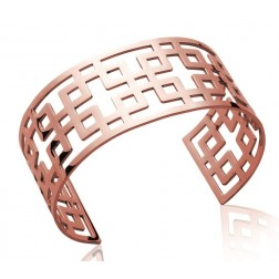 Bracelet manchette pour femme en acier rose, Syllina