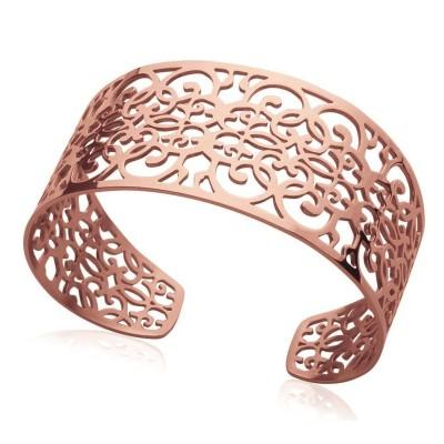 Bracelet manchette pour femme en acier rose, Sibila