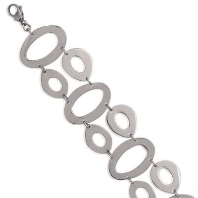 Bracelet en acier gris pour femme, Lana
