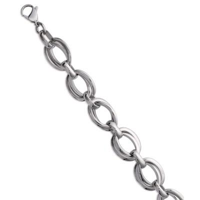 Bracelet en acier gris pour femme, Tiéna
