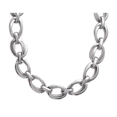 Collier en acier gris pour femme, Tiéna