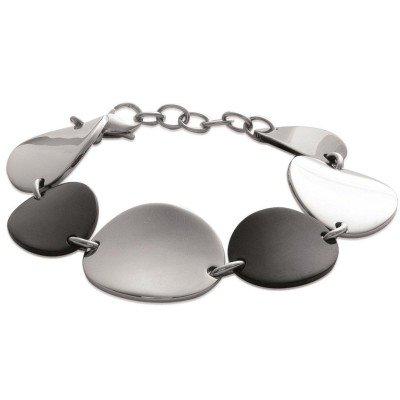 Bracelet en acier noir pour femme - Heptica - Lyn&Or Bijoux
