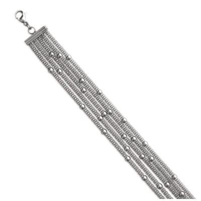Bracelet en acier gris pour femme, Ilonis