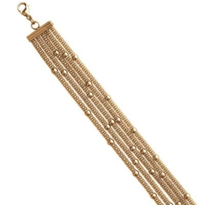 Bracelet tendance en acier doré femme, Ilonis