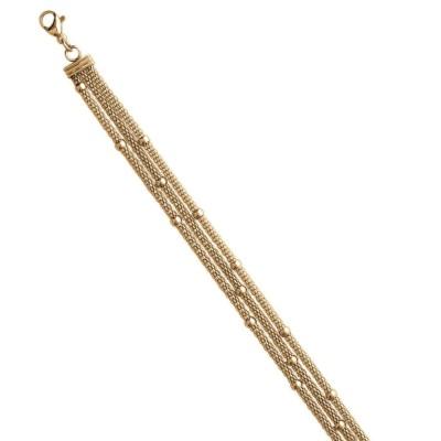 Bracelet tendance en acier doré femme, Konis