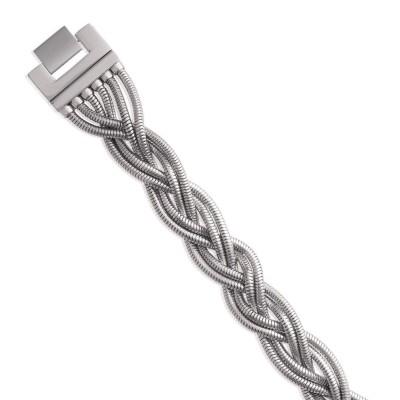 Bracelet en acier gris pour femme, Kussa