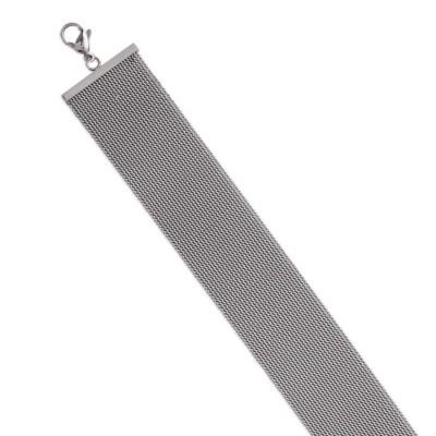 Bracelet en acier gris pour femme, Loumina