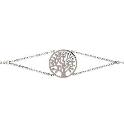 Bracelet tendance en acier gris pour femme, Zinia