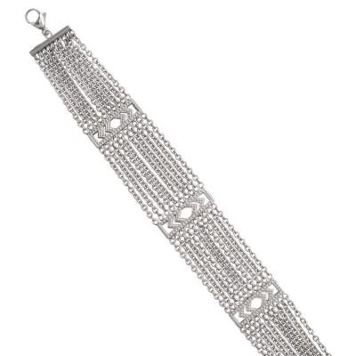 Bracelet tendance en acier gris pour femme, Gilla