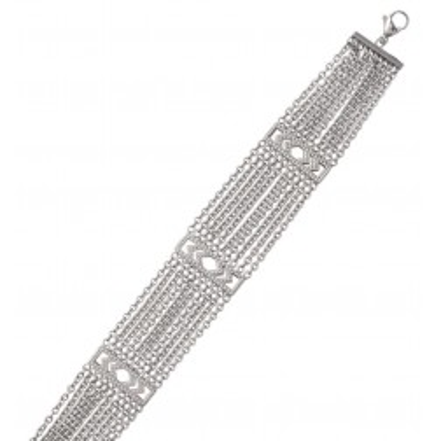 Bracelet en acier gris pour femme, Gilla