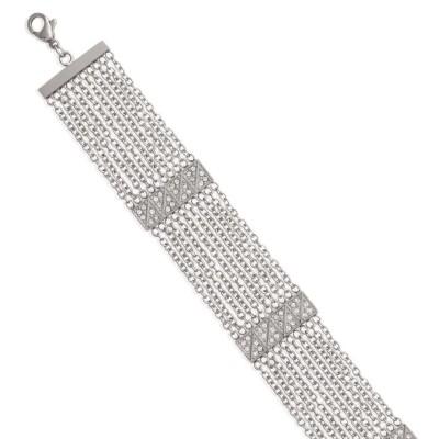 Bracelet en acier et Zircon pour femme - Magie - Lyn&Or Bijoux