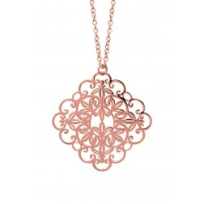Collier pour femme en acier rose, 60 cm - Oupsy - Lyn&Or Bijoux