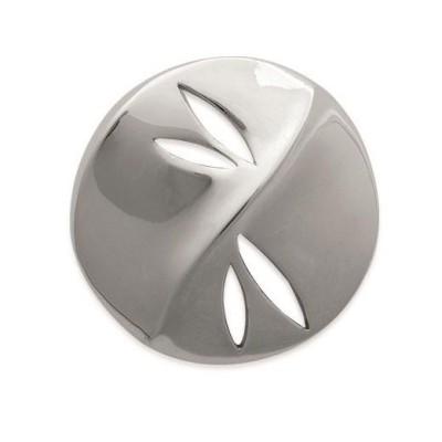 Pendentif pour femme rond en acier gris, Vertige