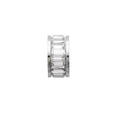 Pendentif pour femme, cylindre en acier & zirconium - Celia - Lyn&Or Bijoux